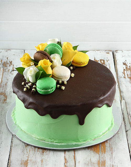 cakes: Lime Green Macaroon Cake!
