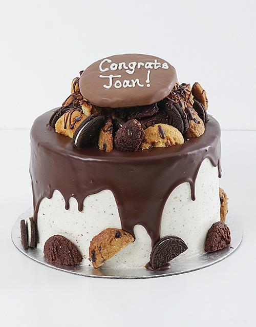 cakes: Personalised Cookie and Brownie Drip Cake!