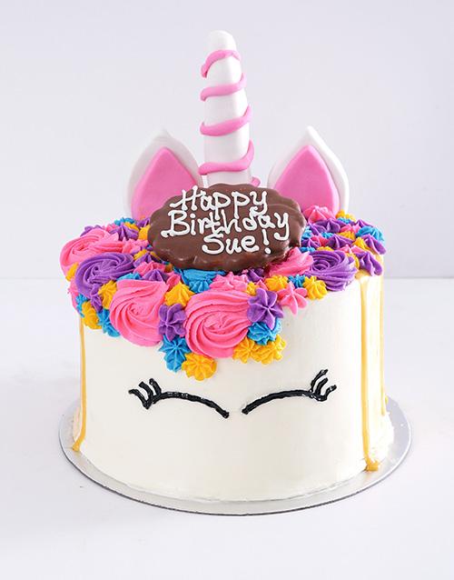 cakes: Personalised Caramel Unicorn Drip Cake!