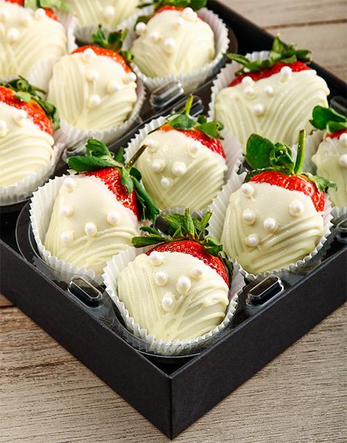 birthday: Pearl Dress White Chocolate Dipped Strawberries!