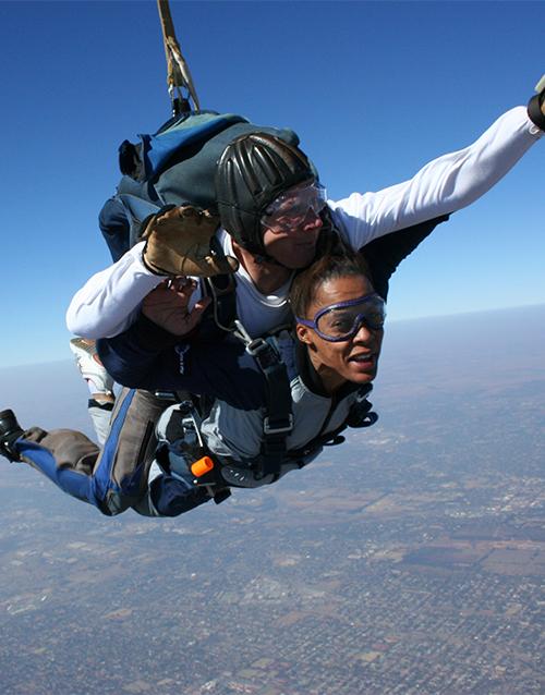 engagement: Tandem Skydiving!