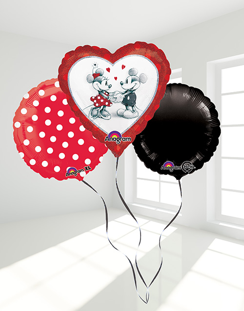 balloon: I love you like Mickey Loves Minnie Bouquet!