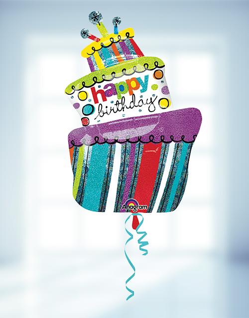 balloon: Happy Birthday Helium Balloon Supersize!