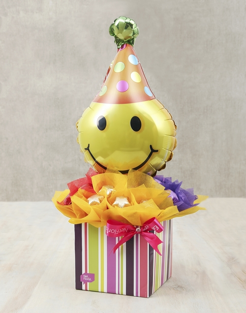 birthday: Smiley Surprise Edible Arrangement!