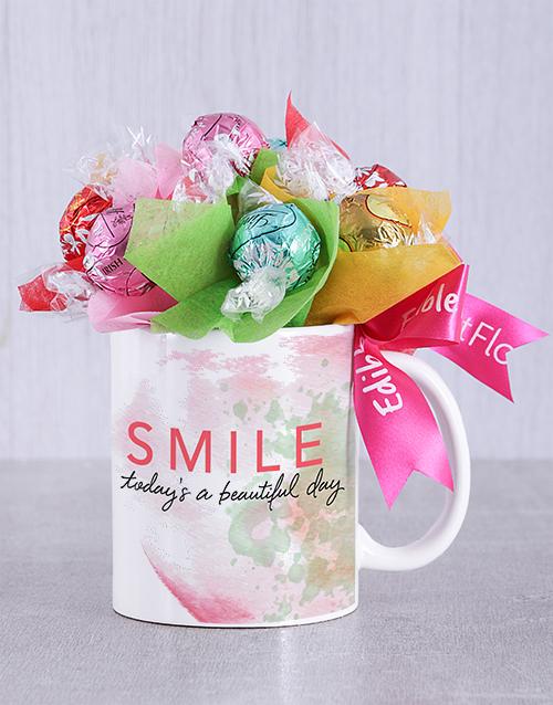 edible-chocolate-arrangements: Beautiful Day Lindt Mug Arrangement!