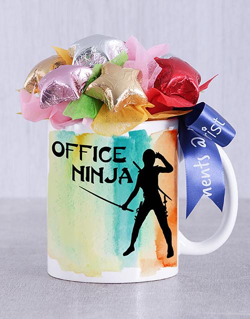 secretarys-day: Office Ninja Choc Star Mug Arrangement!