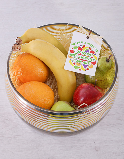 gourmet: Silver and Gold Fruit Bowl!