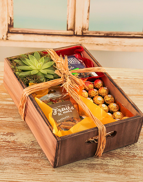 wooden-crates: Nutty Plant Gift Crate!