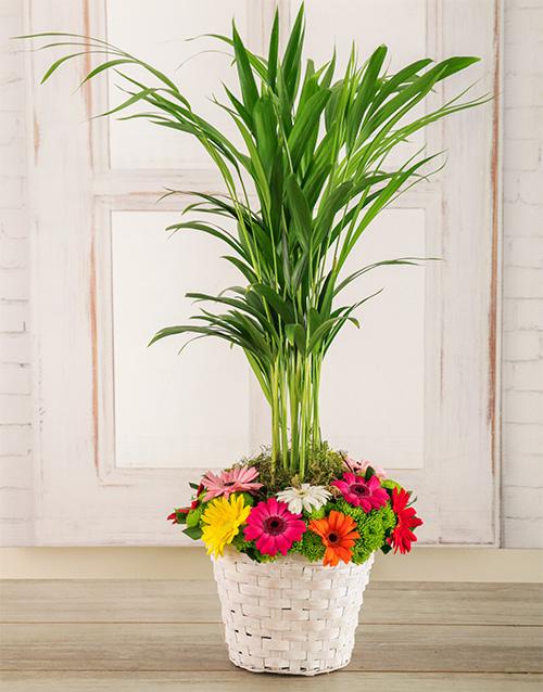 green: Spring Fling Flower Basket!