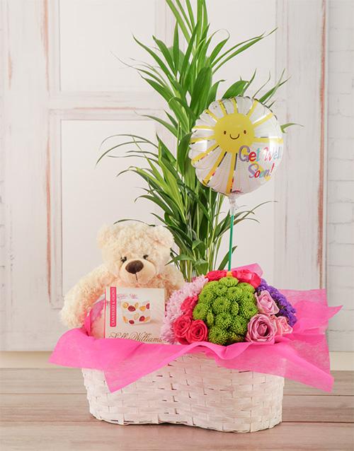 green: A Little Pick Me Up Flower Basket!