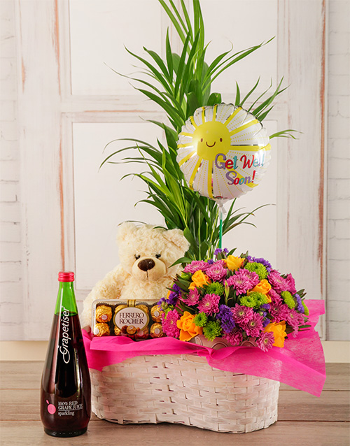 balloon: Lots of Hugs Plant Basket!