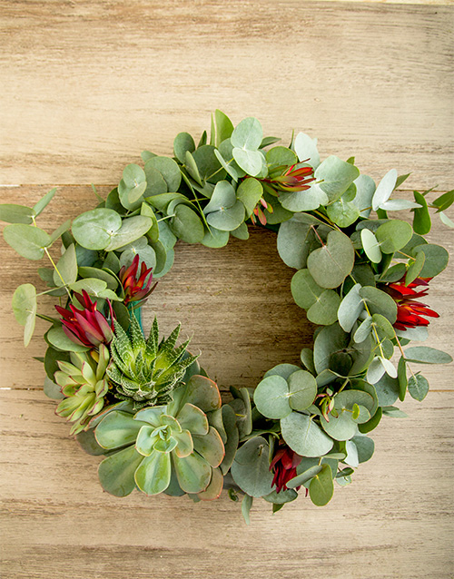 succulents: Lucky Pony Simply South African Wreath!