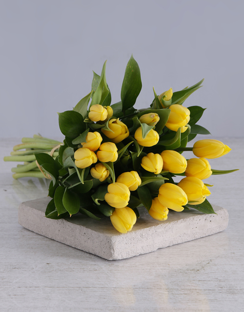 flowers: Yellow Tulip Bouquet!