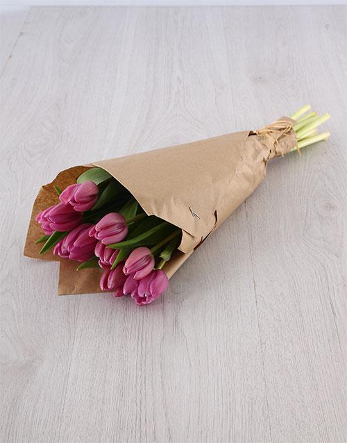 tulips: Purple Tulip Bouquet!