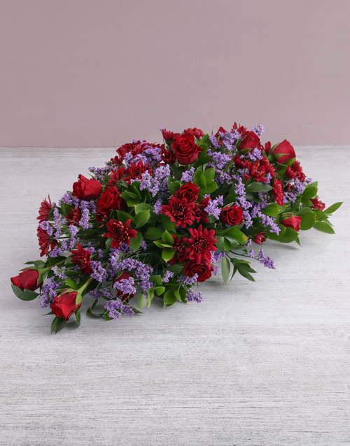 colour: Red Roses and Sprays Arrangement!