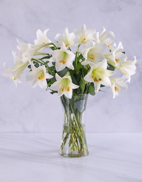 birthday: Elegant White Lilies!