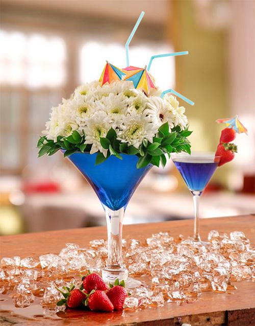 colour: Blue Cocktail Arrangement!