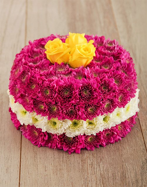daisies: Perfectly Pink Flower Cake!