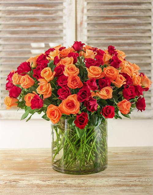 vase: Tangerine Dream Arrangement!