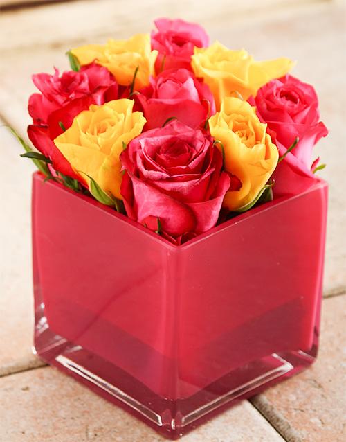 roses: Strawberries & Cream Rose Vase!