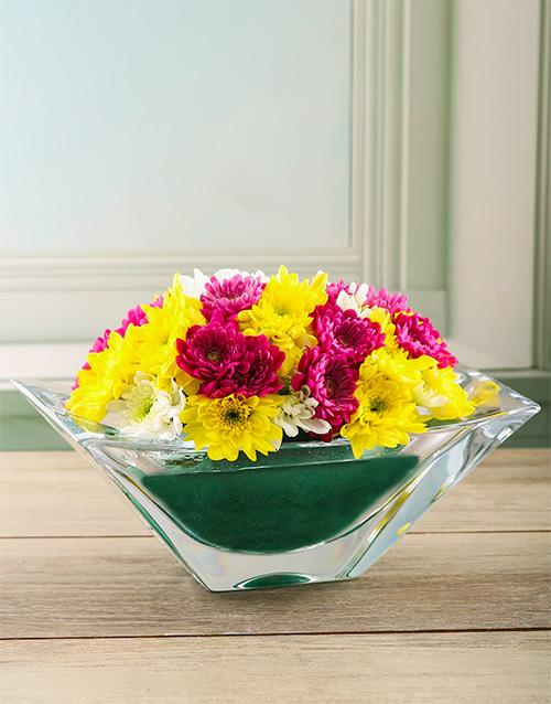 crystal-vases: Charming Spray Arrangement in Crystal Vase!