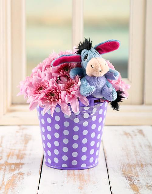 teddy-bears: Eeyore Flower Bucket!