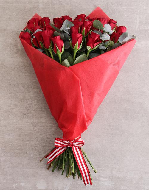 colour: Red Rose Sympathy Bouquet!