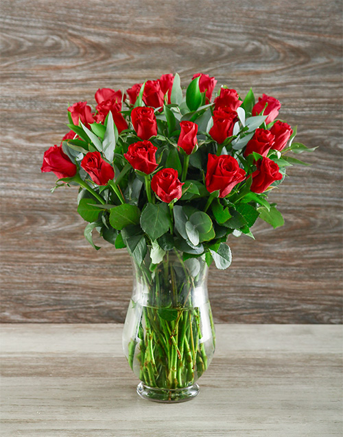 roses: A Lot Like Love Red Rose Arrangement!