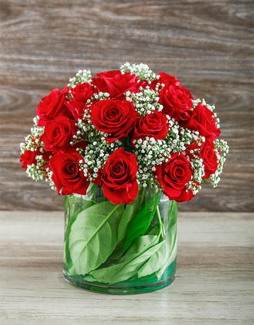 colour: Red Rose Cylinder Vase!