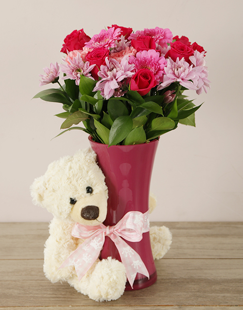 colour: Pretty in Pink Baby Girl Arrangement!