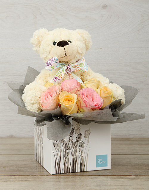 baby: New Baby Pastel Rose & Teddy Box!