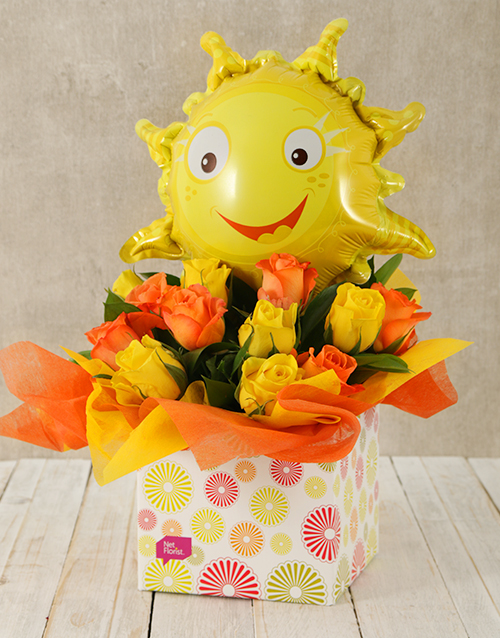 get-well: Sunshine and Roses Box!