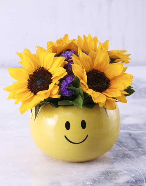 sunflowers: Sunflower Smiley Pot!