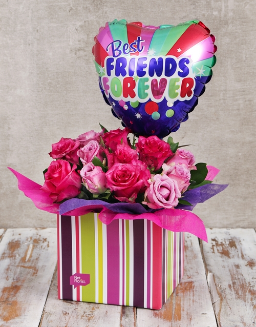 roses: Best Friends Balloon and Rose Box!