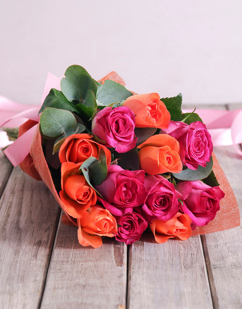 roses: Sunset Rose Bouquet!