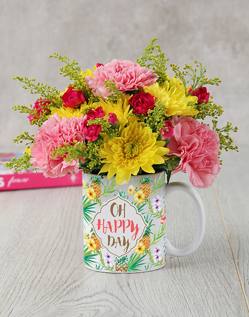 mugs: Oh Happy Day Mug Arrangement!
