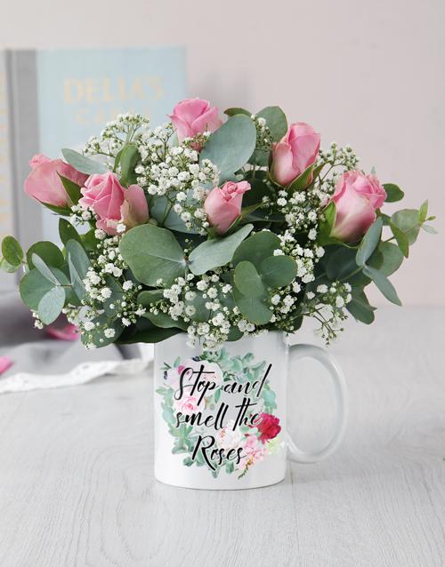 mugs: Smell The Roses Mug Arrangement!