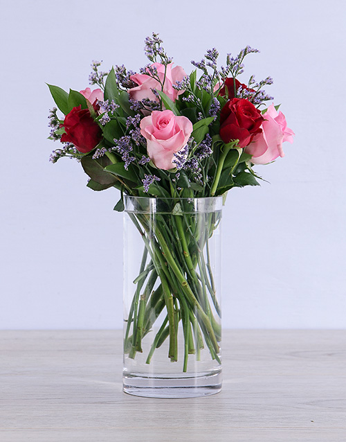 whats-new: Dreamy Mixed Roses in Clear Vase!