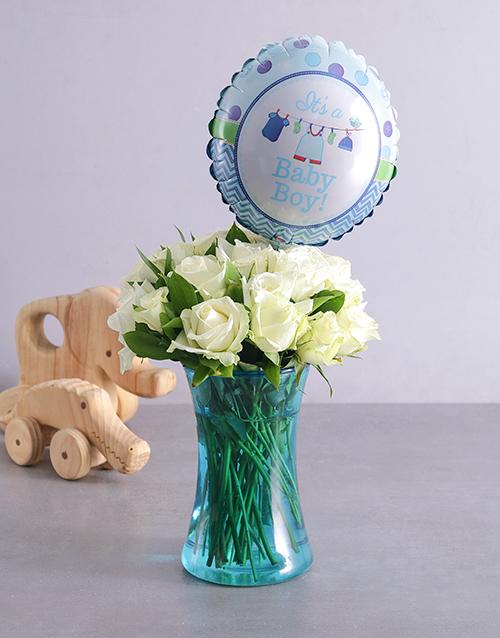 colour: Baby Boy and Blue Arrangement!