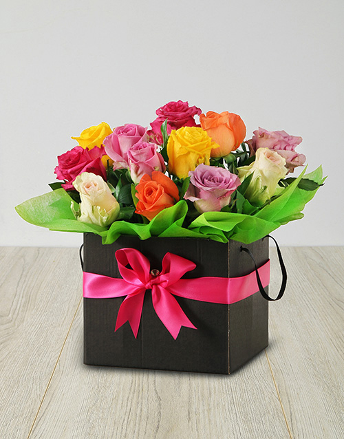 best-sellers: Mixed Roses in a Black Box!