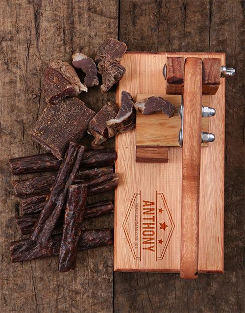 gourmet: Personalised Biltong Cutter!