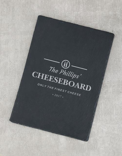 personalised: Personalised Finest Cheese Slate Board!