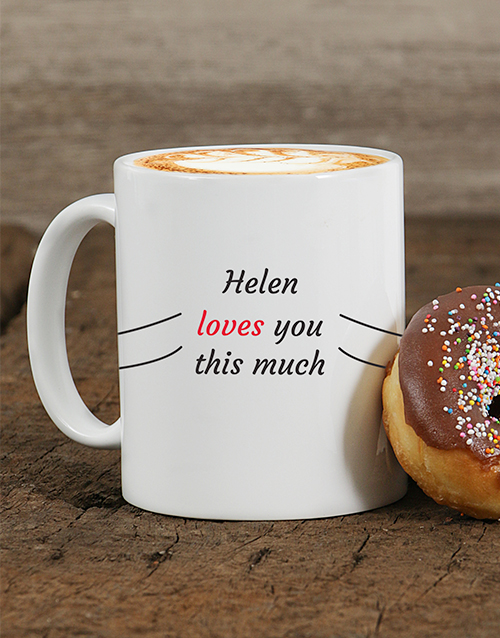 personalised: Personalised Love You This Much Mug!