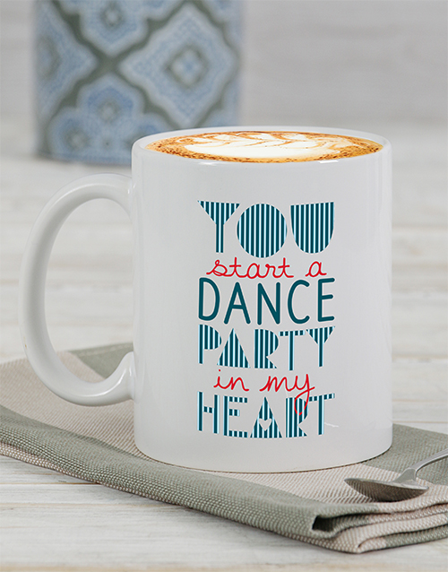 personalised: Personalised Party In My Heart Mug!