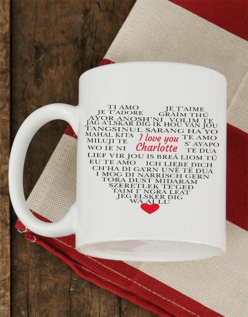 homeware: Personalised Languages of Love Mug!