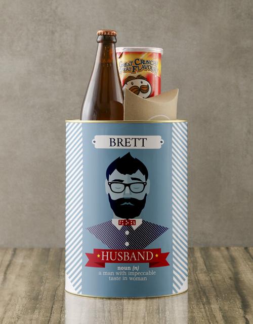 personalised: Personalised Husband Bro Bucket!
