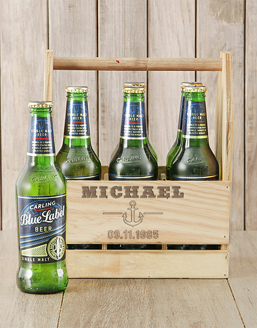 man-crates: Personalised Anchor Carling Beer Caddy!