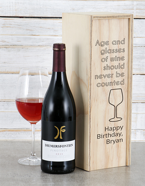 personalised: Personalised Age and Wine Crate!
