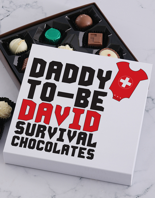 congratulations: Personalised Daddy To Be Choc Tray!