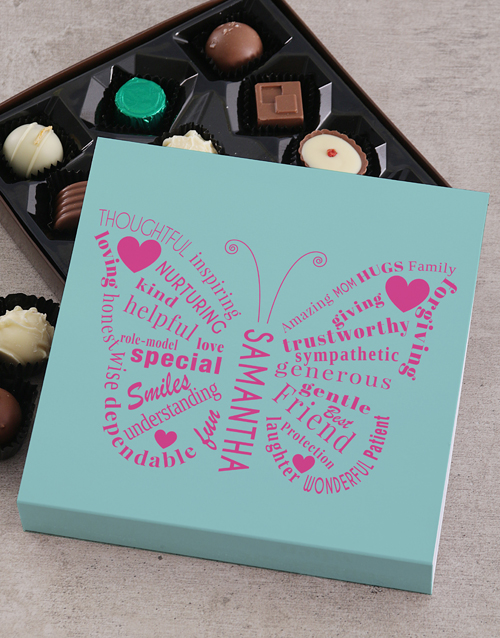 personalised: Personalised Butterfly Love Choc Tray!